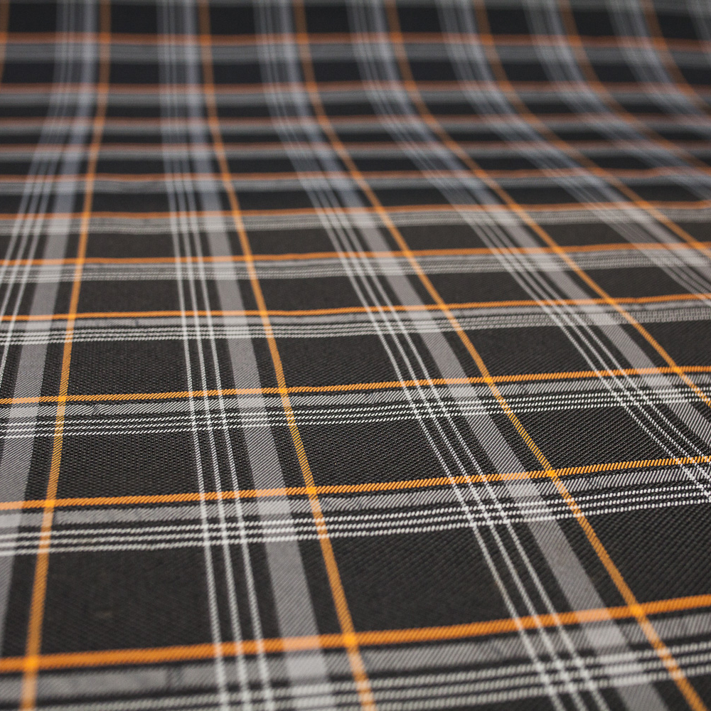 Transporter HQ Golf GTi Style Tartan Upholstery - Orange ...