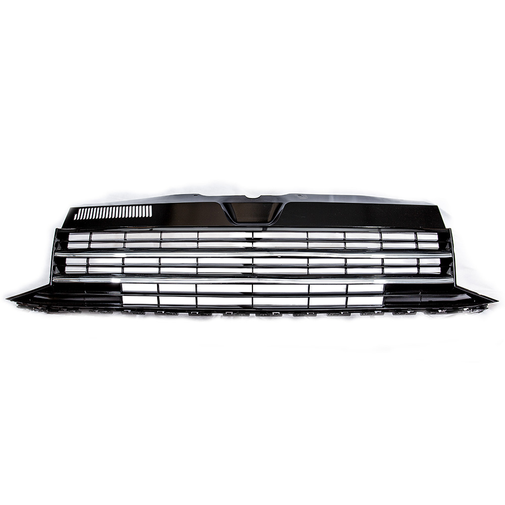 T6 Badgeless Grill Gloss Black With Two Chrome Strips T5 T6 Exterior Styling Transporter Hq