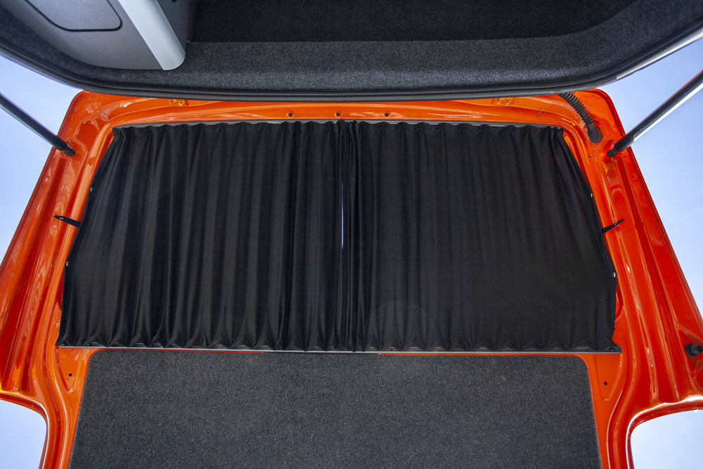 Black Vw T5 T6 Tailgate Curtains T5 T6 Curtains
