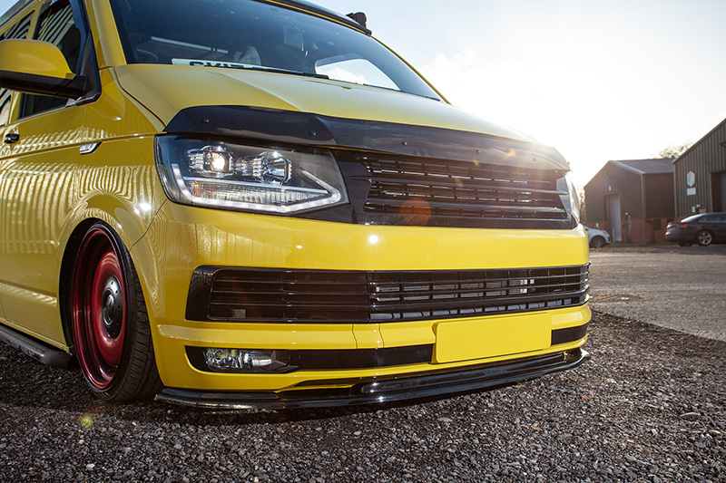 T6 Badgeless Grille   Double Bar Gloss Black   T6 Grilles ...