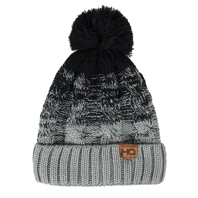 Transporter HQ Ombré Bobble Hat - Black/Grey   Headwear ...