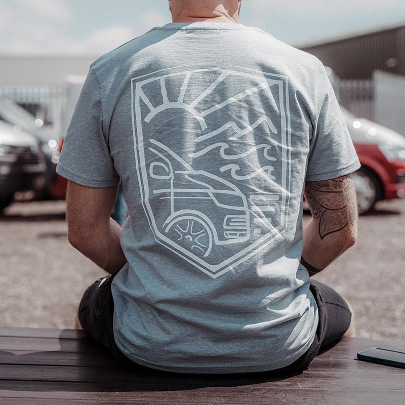 "Transporter HQ - Ice Blue ""Border"" T-Shirt   Clothing ..."